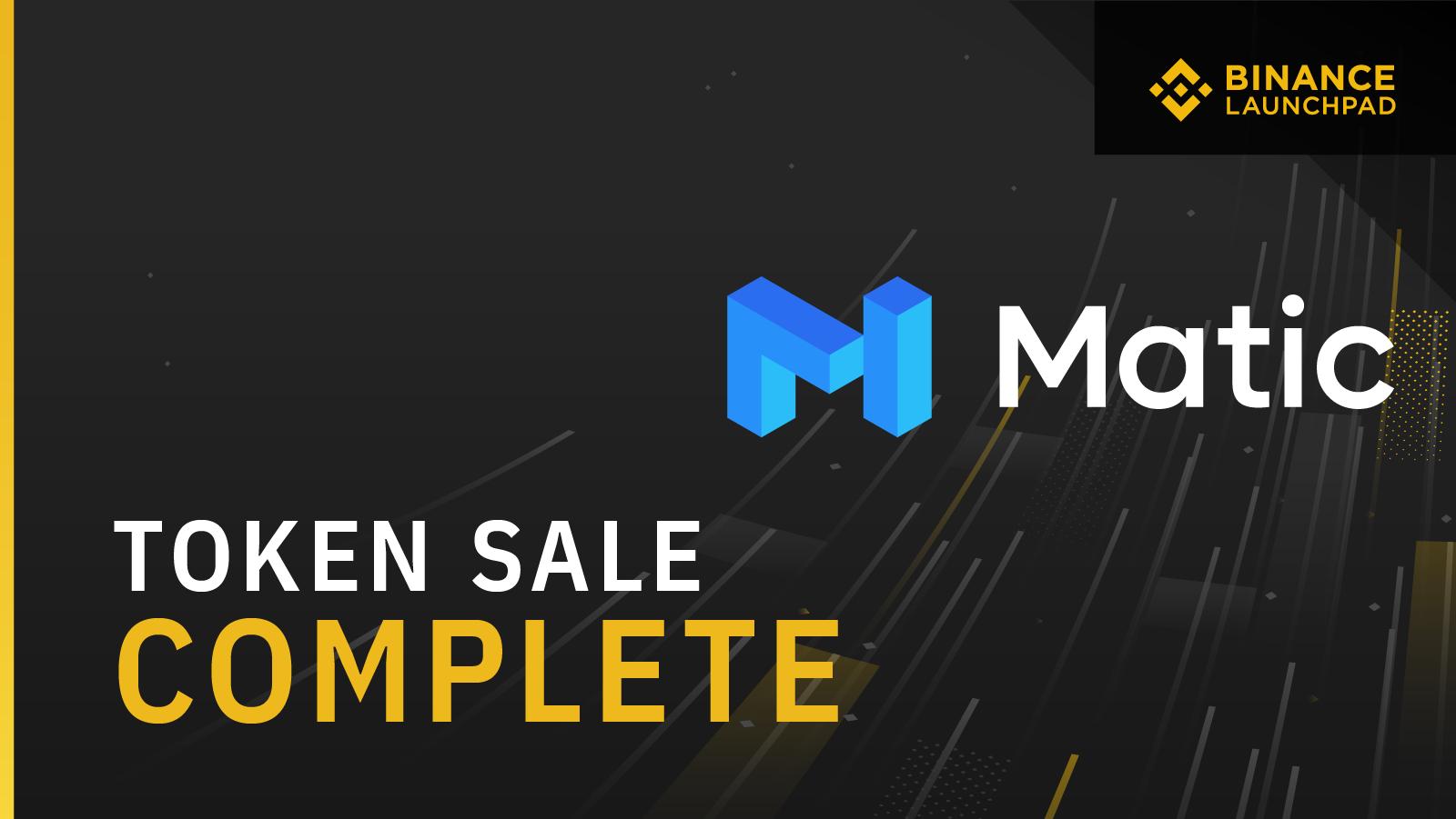 Binance Launchpad: Matic Token Sale Results | Binance Blog