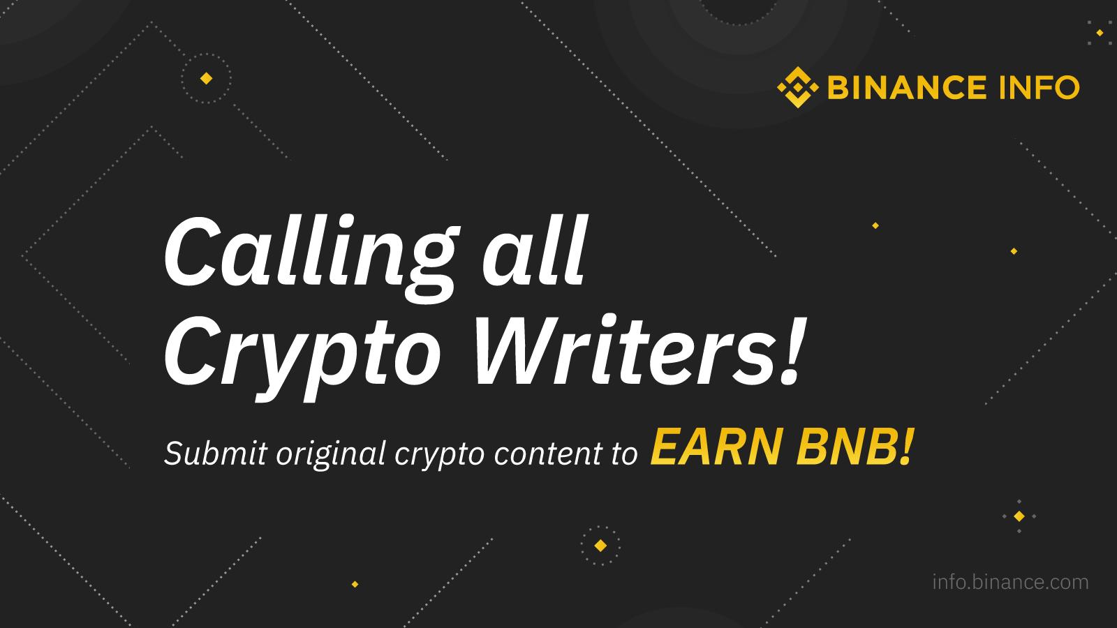 Binance Info Bounty Program: Earn BNB for Original Crypto Content
