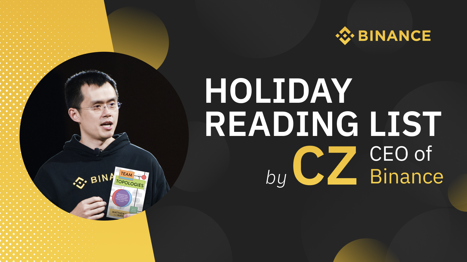 Cz S 10 Book Reading List For The Holidays Binance Blog