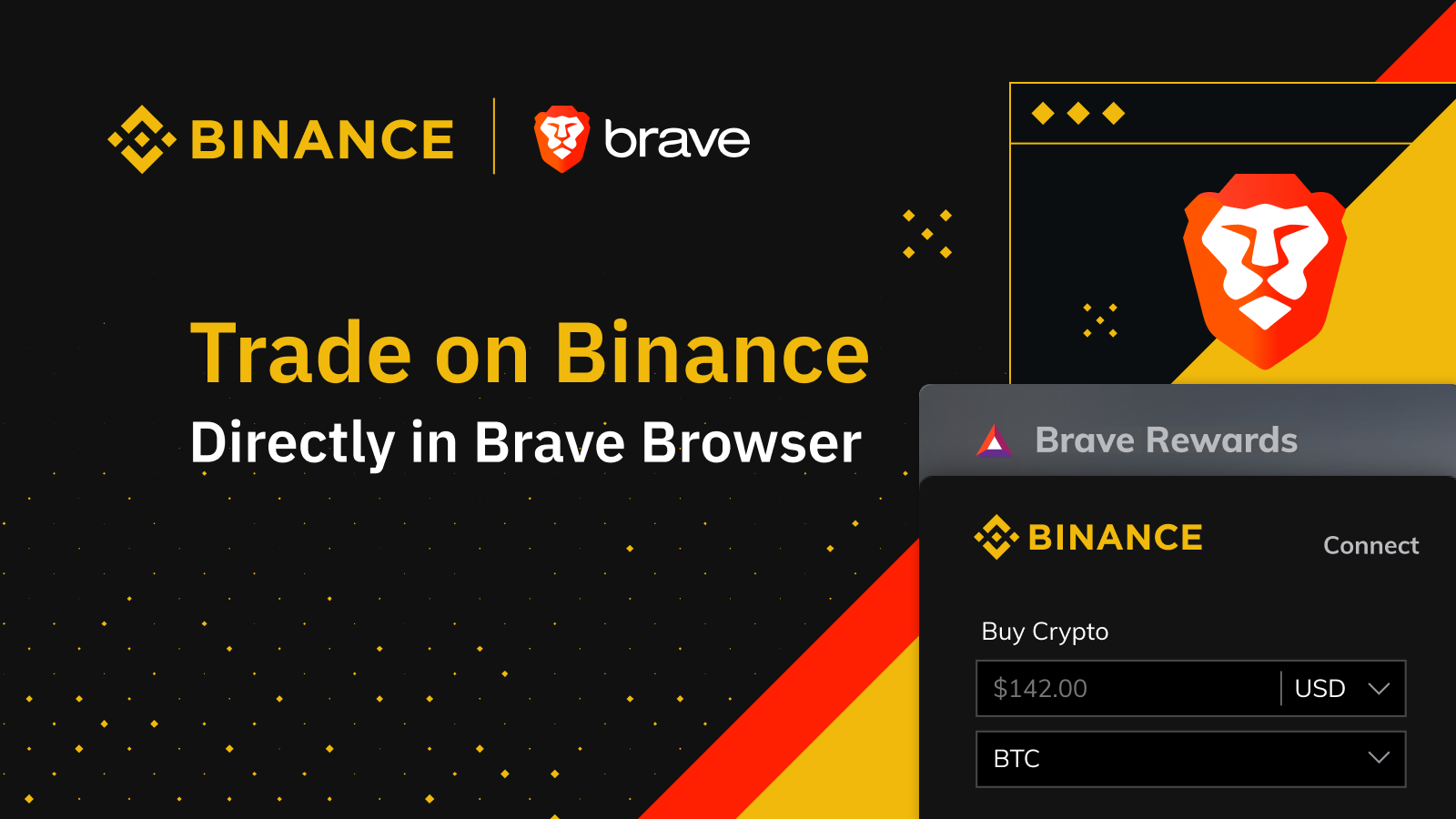 Brave and Binance Partner to Bring Cryptocurrency Trading Directly Into the  Browser | Binance Blog