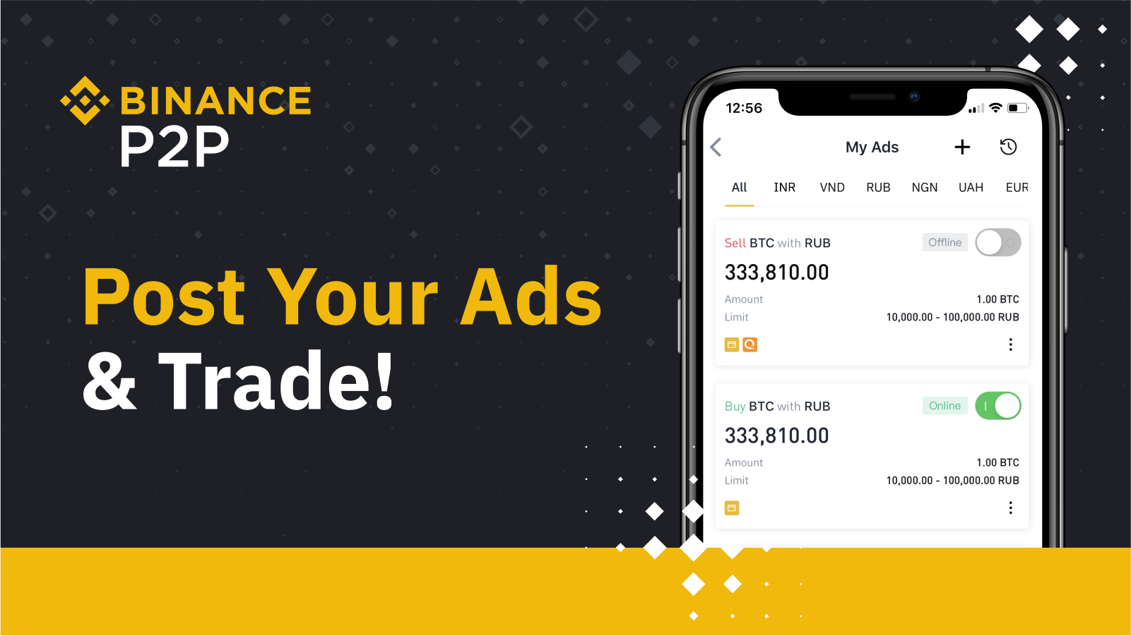 Binance P2P Launches Ad Posting: Start Your Own Crypto Trading ...