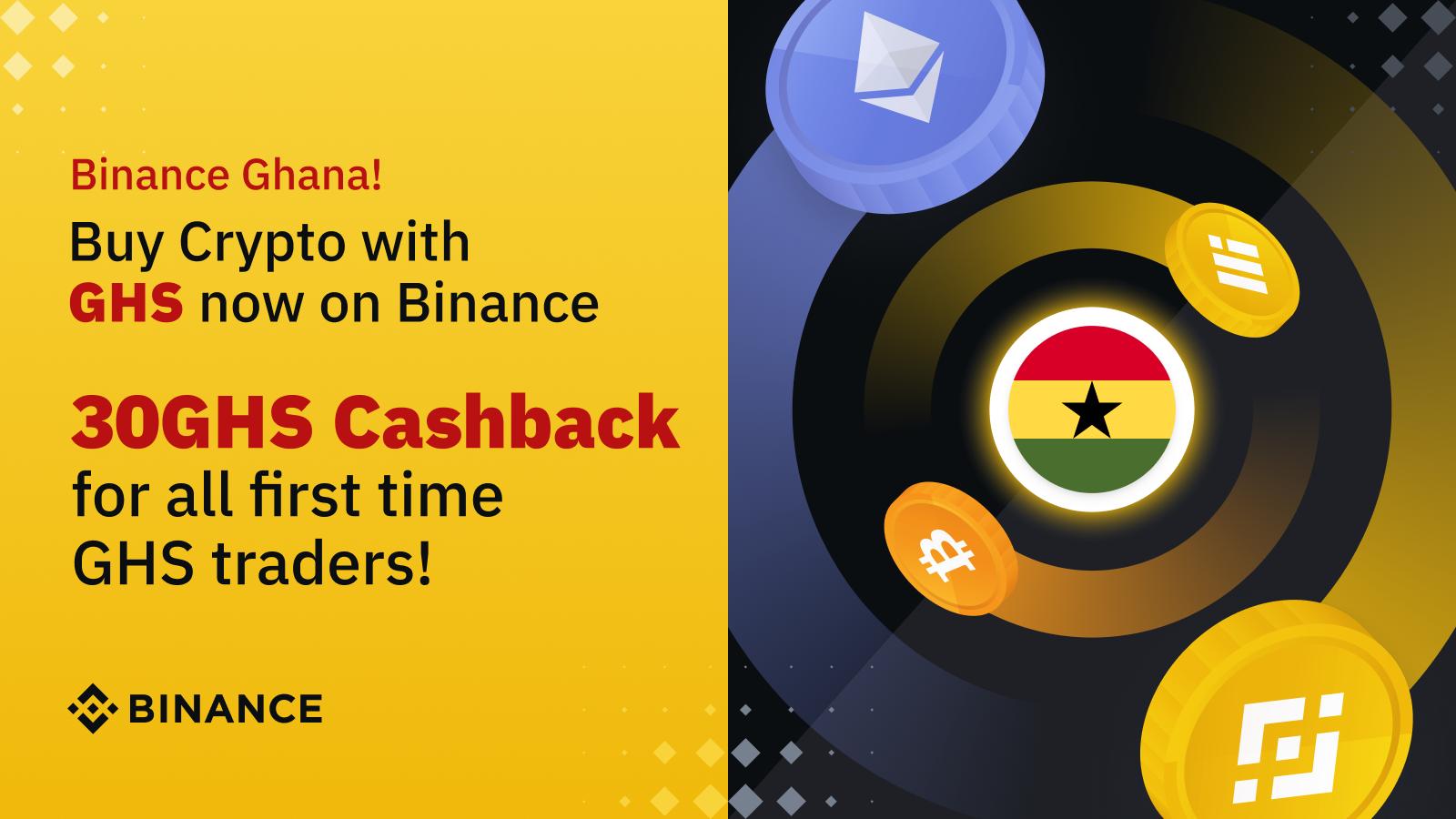 Binance 30 GHS cash back promo