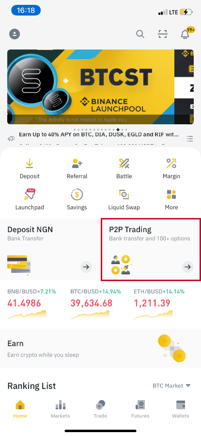 bitcoin binance di trading
