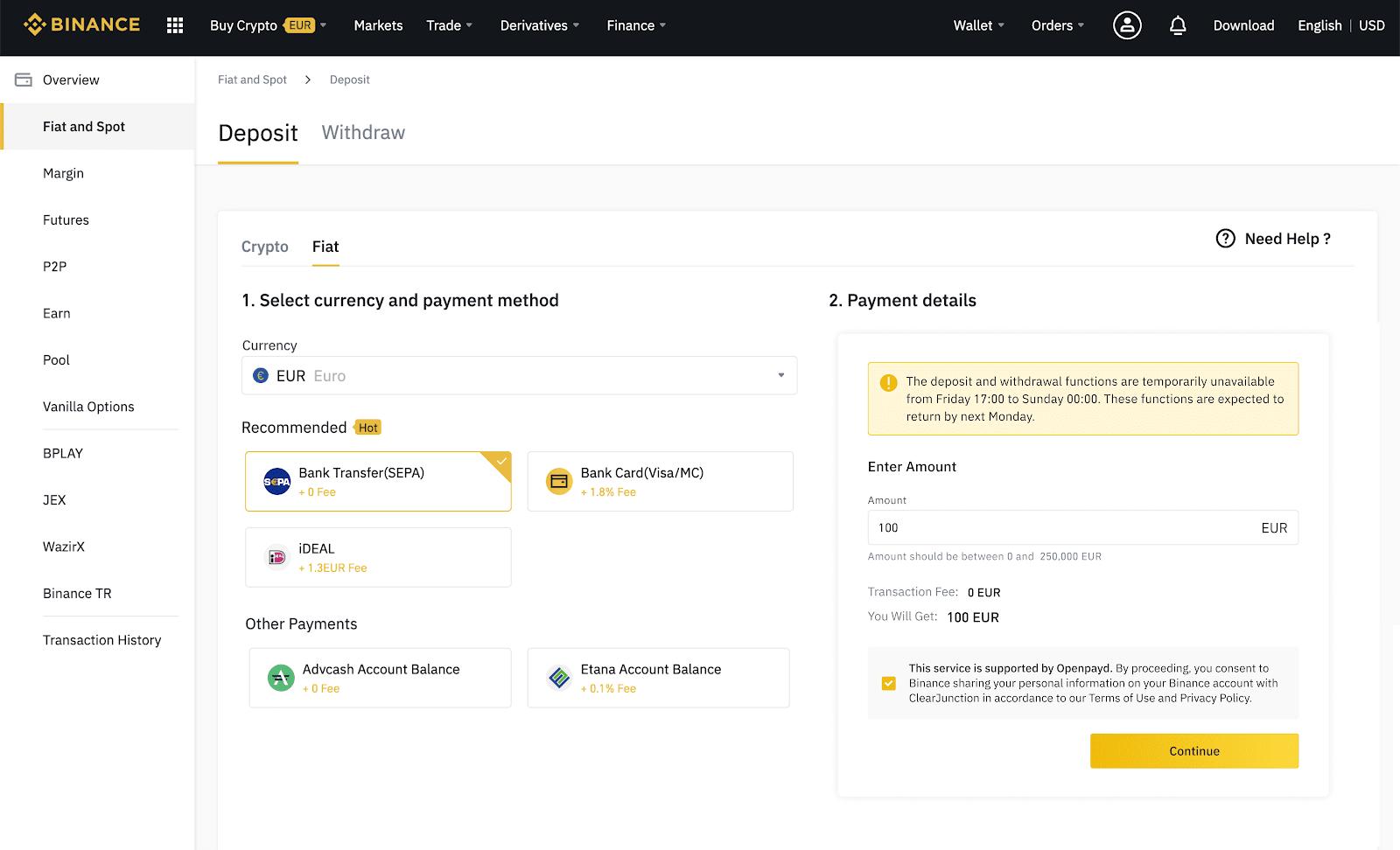 bitcoin sepa transfer