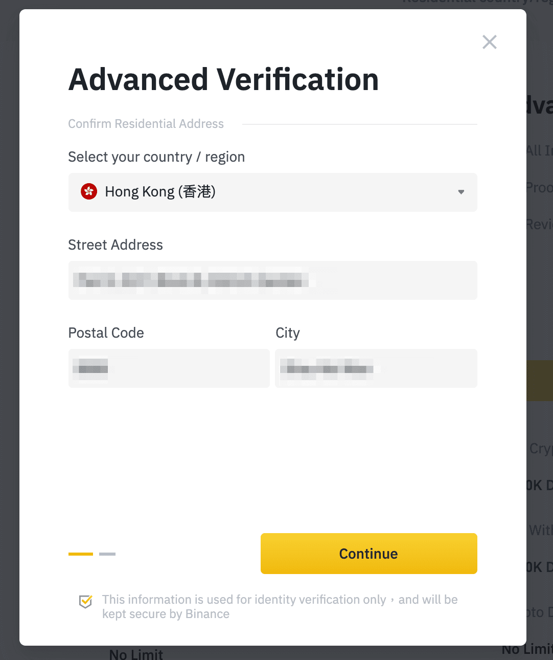 binance bitcoin confirmare numerar