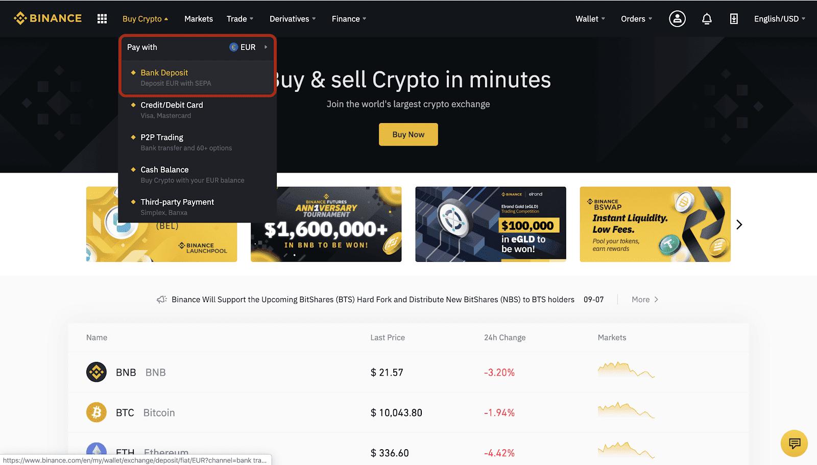 binance btc tempo deposito bitcoin nessuna verifica