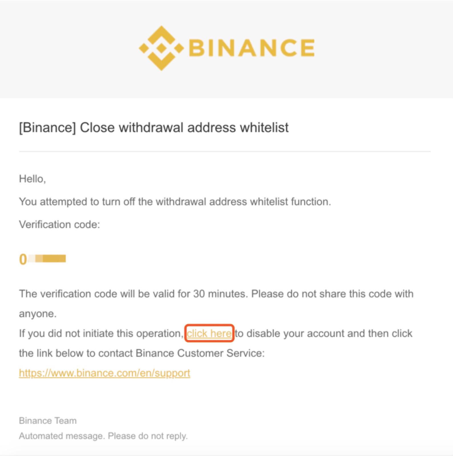 indirizzo di deposito bitcoin binance vuoto