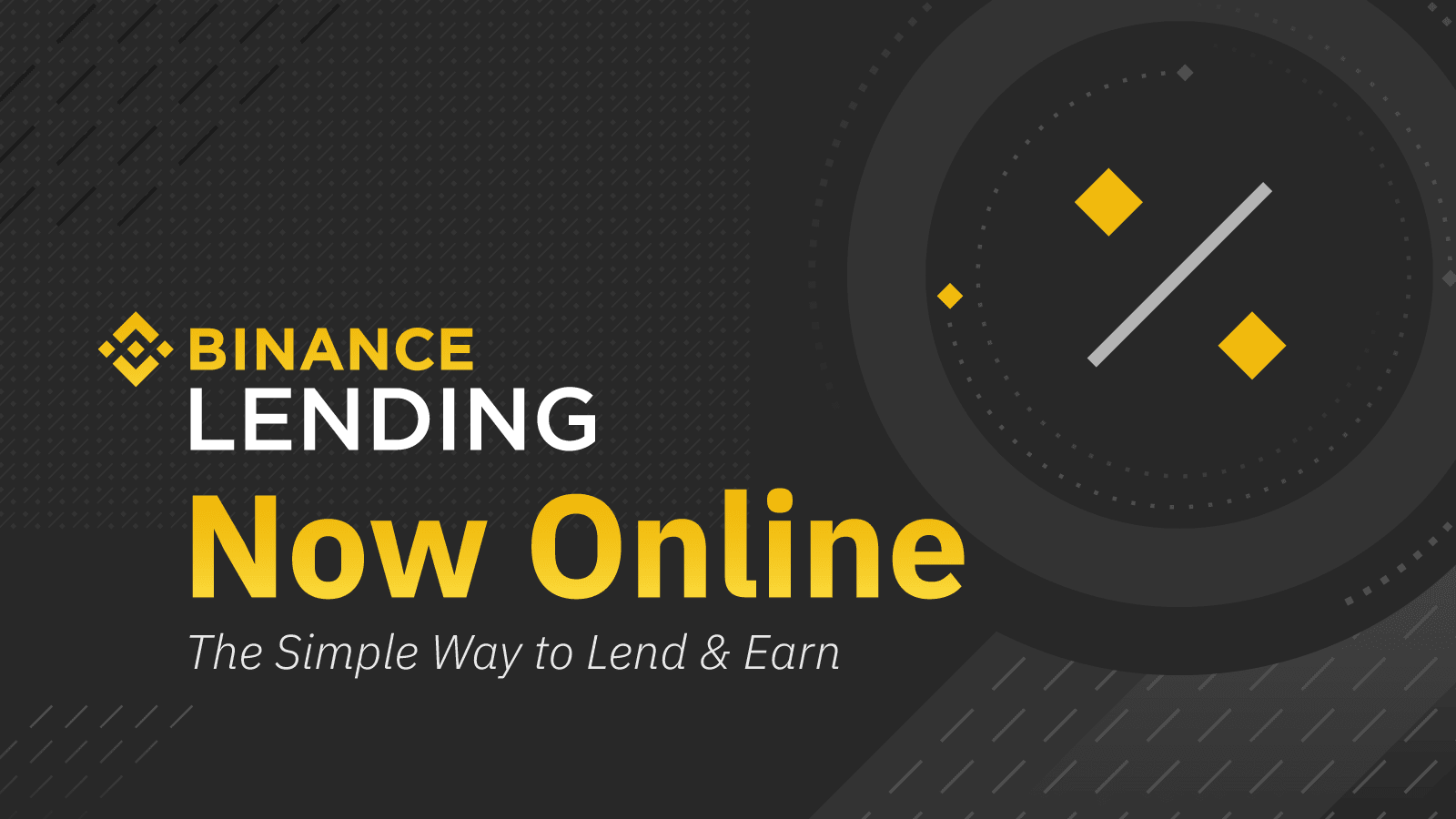 Binance Launches Cryptocurrency Lending Products, Expanding Offerings  Beyond Trading   Binance Blog