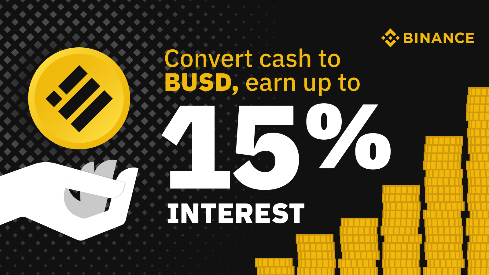 Convert Cash to BUSD to Earn up to 15% InterestCryptocurrency Trading Signals, Strategies & Templates | DexStrats