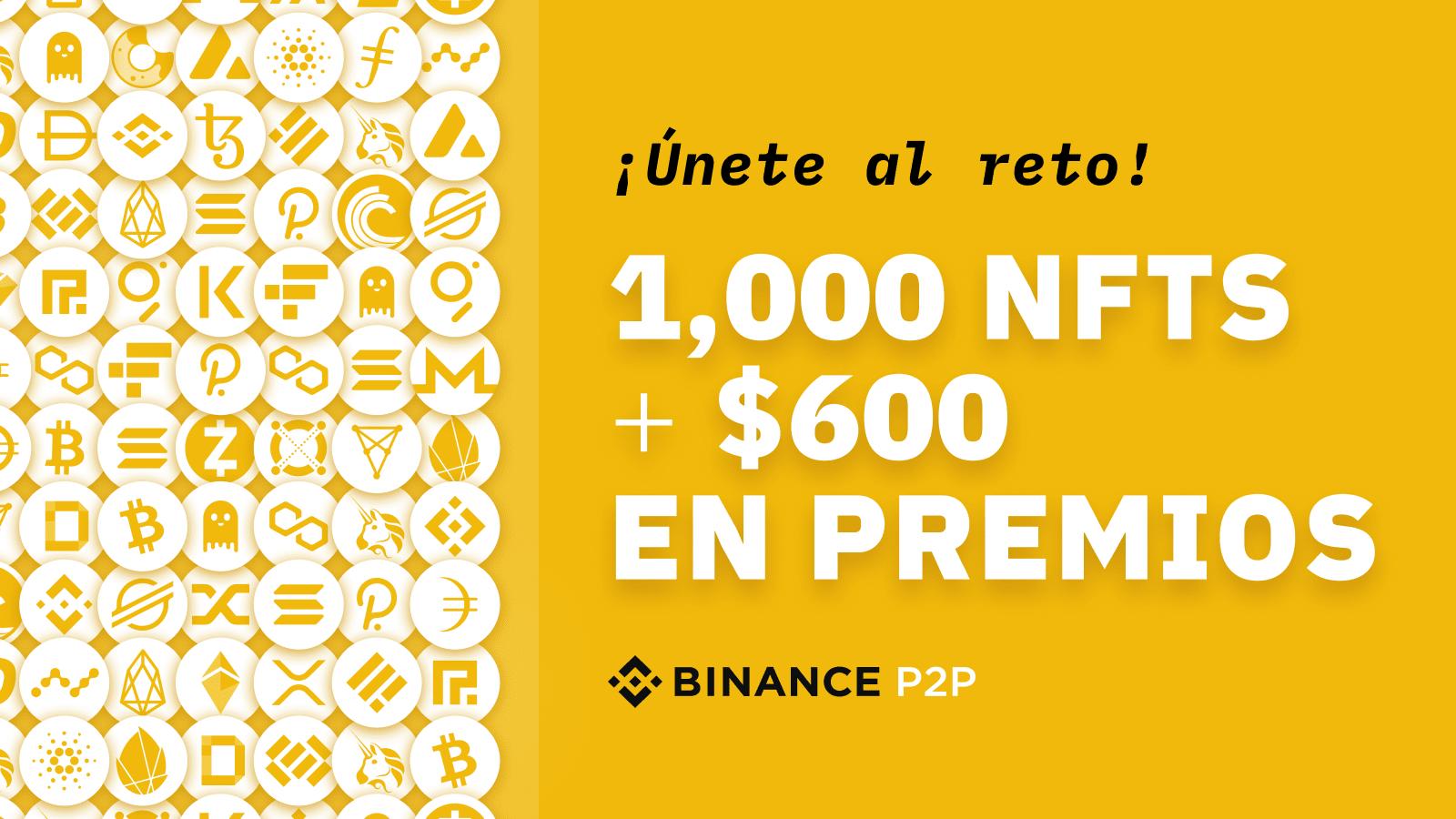 ¡Súmate al desafío de Binance P2P! Sorteo de 1,000 NFT edición limitada, más $600 dólares en premios | Blog de Binance