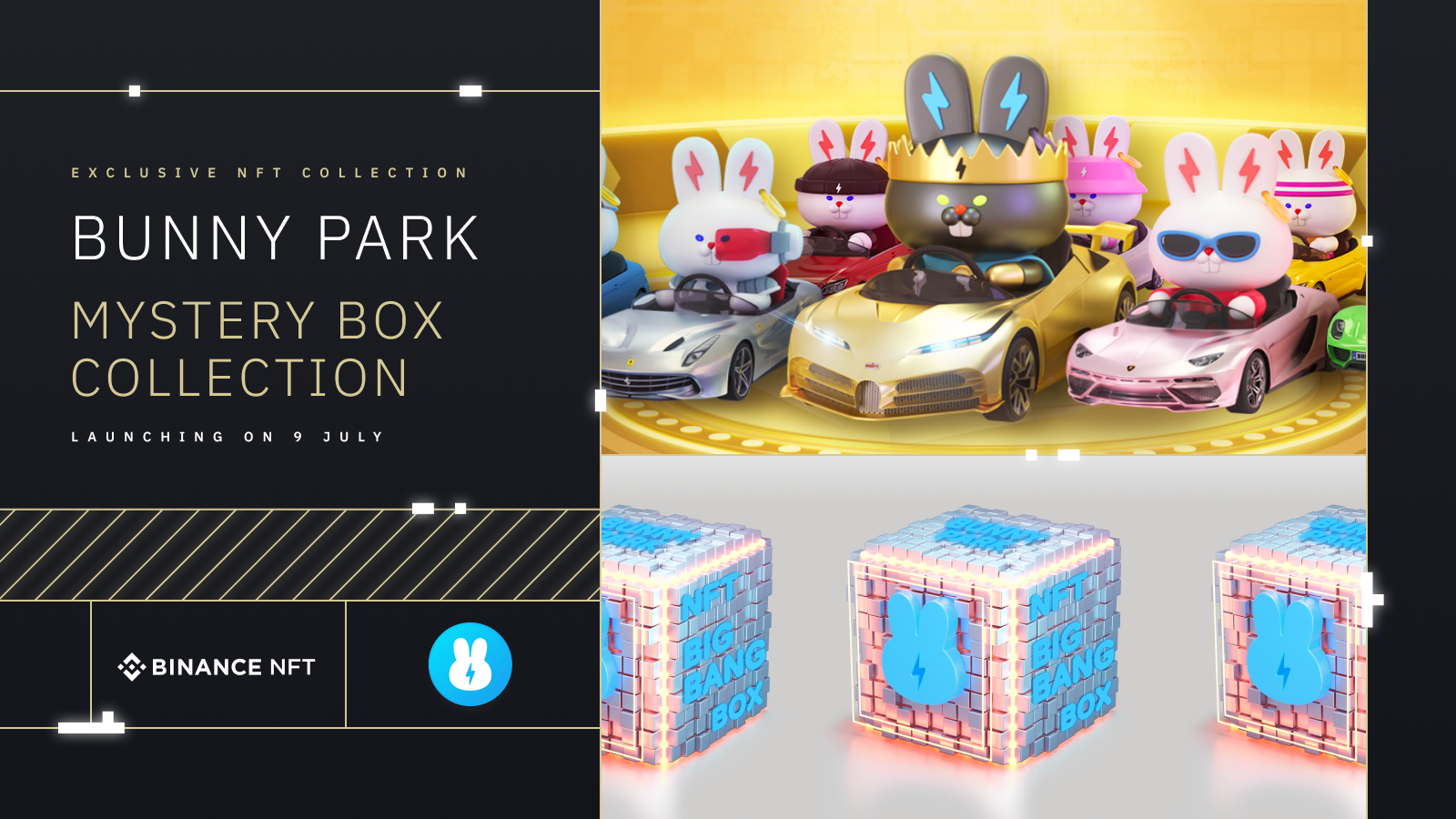 """Binance NFT Marketplace Drop: New """"Big Bang"""" Mystery Boxes From BunnyPark, KAKA, Polkamon, X World Games, My Neighbour Alice, Mobox and Seascape!Cryptocurrency Trading Signals, Strategies & Templates   DexStrats"""