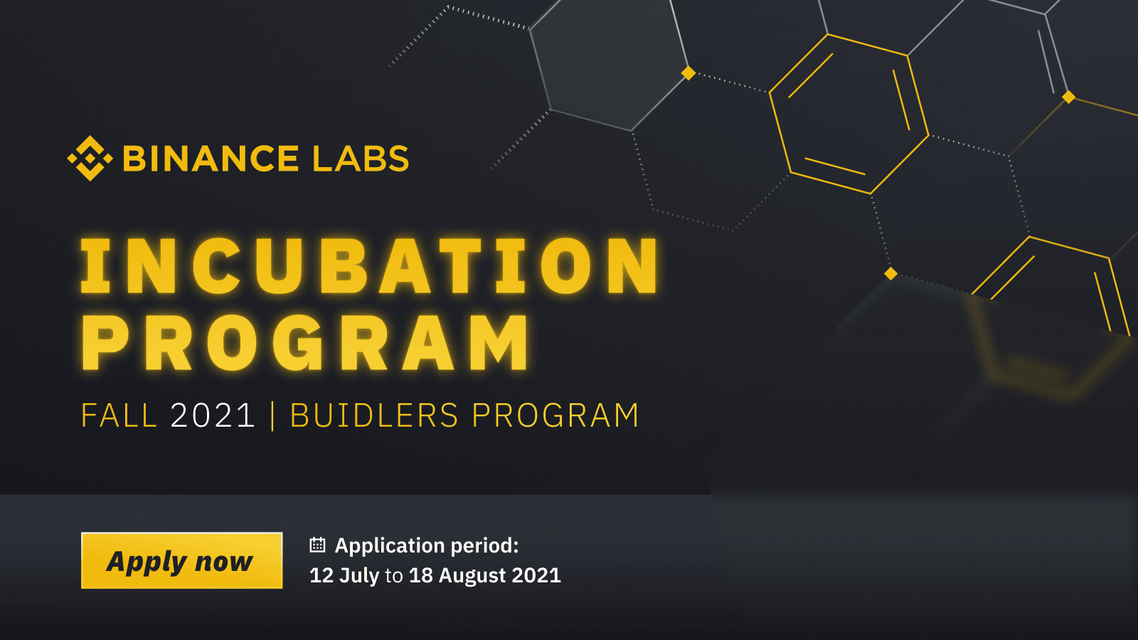 Apply Now for the Fall 2021 Edition of the Binance Incubation ProgramCryptocurrency Trading Signals, Strategies & Templates | DexStrats
