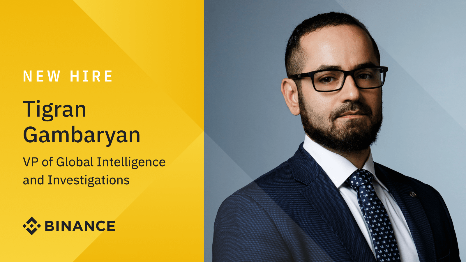 Former IRS-CI Special Agent Tigran Gambaryan joins Binance as VP of Global Intelligence and Investigations   Binance Blogon October 8, 2021 at 6:39 am