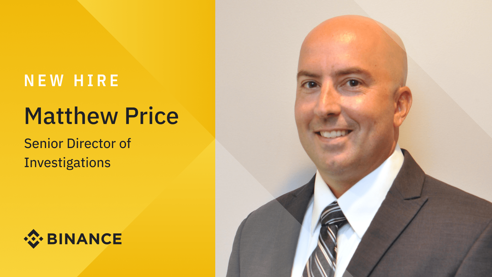 Former IRS-CI Special Agent Matthew Price joins Binance as Senior Director of Investigations   Binance Blogon October 8, 2021 at 6:39 am