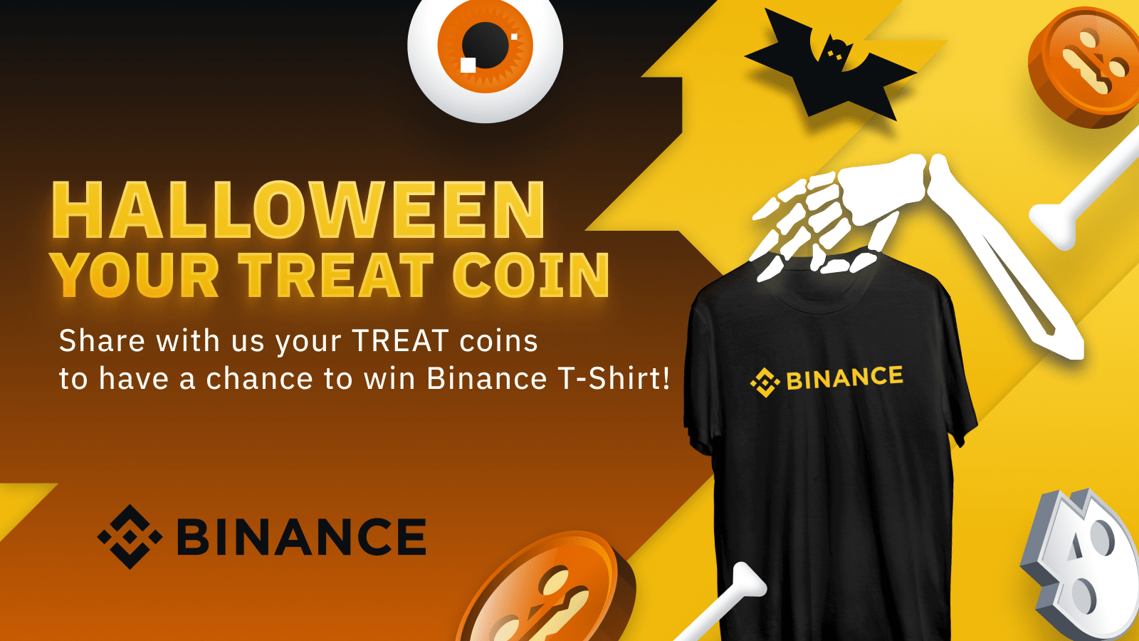 Halloween Your Treat Coin! : Win Binance Special Giveaway for Cambodia, Laos and Myanmar!